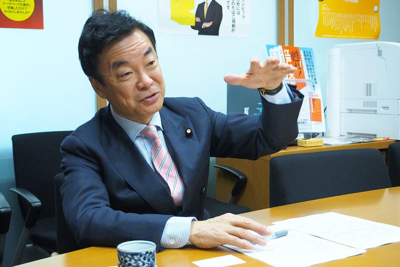 <受動喫煙問題>松沢成文議員「小池さんなら都条例で規制してくれるはず」